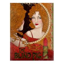 THE BLIND PIG™ Vintage Artwork Postcard