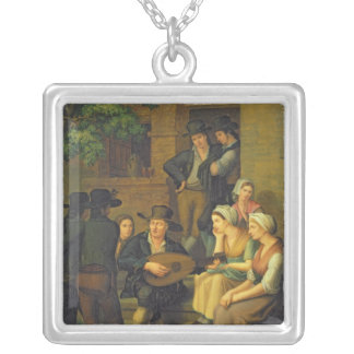 The Blind Singer, 1828 Silver Plated Necklace