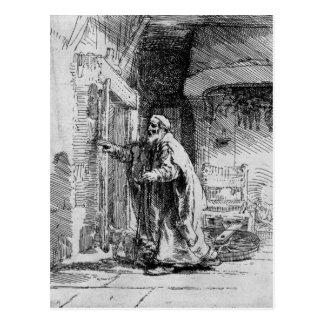 The blind Tobit, 1651 Postcard