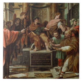 The Blinding of Elymas (cartoon for the Sistine Ch Ceramic Tile