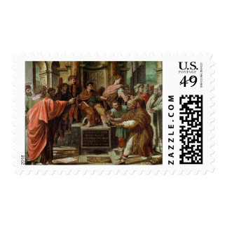 The Blinding of Elymas (cartoon for the Sistine Ch Postage