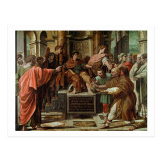 The Blinding of Elymas (cartoon for the Sistine Ch Postcard