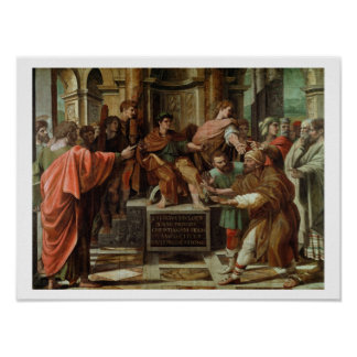 The Blinding of Elymas (cartoon for the Sistine Ch Poster