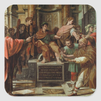 The Blinding of Elymas (cartoon for the Sistine Ch Square Sticker