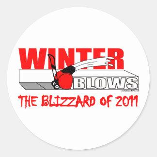 THE BLIZZARD OF 2011 CLASSIC ROUND STICKER
