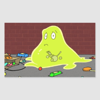 The Blob - Caught in the act! Rectangular Sticker