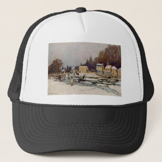 The Blocked Seine at Port Marly by Alfred Sisley Trucker Hat