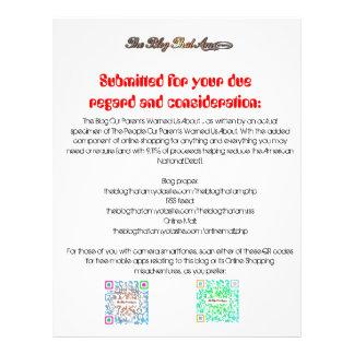 The Blog That Am! Handbill Flyer