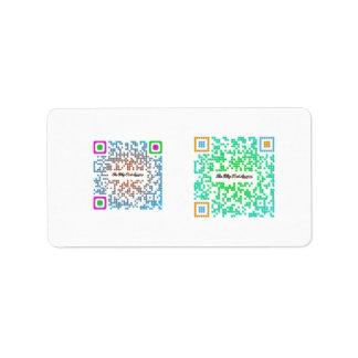 The Blog That Am! QR Code Seals Label