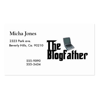 The Blogfather Double-Sided Standard Business Cards (Pack Of 100)
