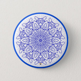 The Bloo Pixie - Bloo Mandala Badge Button