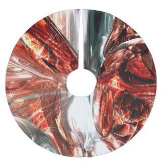 The Blood Divide Abstract Brushed Polyester Tree Skirt