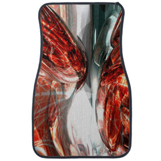 The Blood Divide Abstract Car Floor Mat