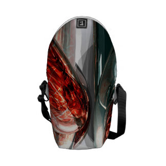 The Blood Divide Abstract Messenger Bag