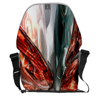 The Blood Divide Abstract Messenger Bags