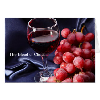The Blood of Christ Card
