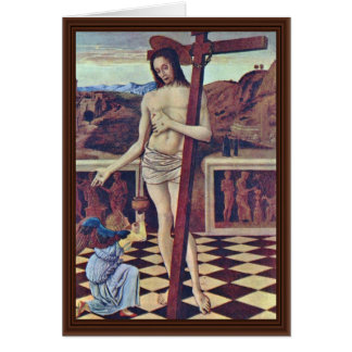 The Blood Of The Redeemer By Bellini Giovanni Greeting Card