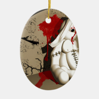 The Bloody bunny Ceramic Ornament
