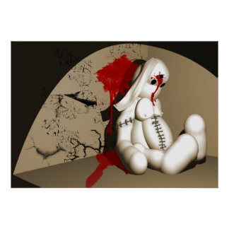 The Bloody bunny Print