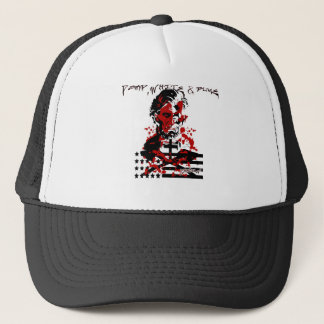 The Bloody Flag-Abraham Lincoln Trucker Hat