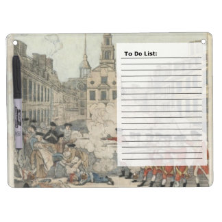 The Bloody Massacre - Paul Revere (1770) Dry Erase Board With Keychain Holder