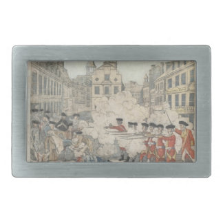 The Bloody Massacre - Paul Revere (1770) Rectangular Belt Buckle