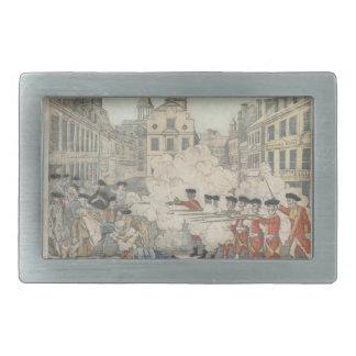 The Bloody Massacre - Paul Revere (1770) Rectangular Belt Buckle