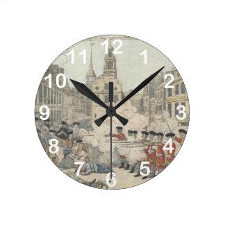The Bloody Massacre - Paul Revere (1770) Round Clock