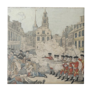 The Bloody Massacre - Paul Revere (1770) Small Square Tile