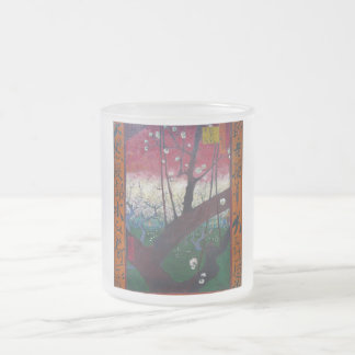 The Blooming plum tree By Vincent Van Gogh 10 Oz Frosted Glass Coffee Mug