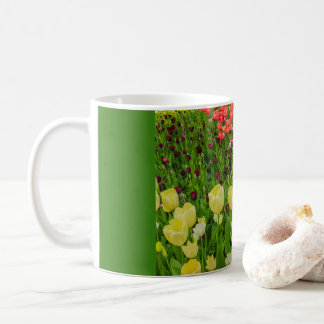 THE BLOSSOMING OF TULIPS  IN A PARK  CLASSIC MUG