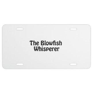 the blowfish whisperer license plate