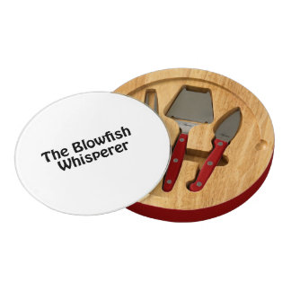 the blowfish whisperer round cheese board