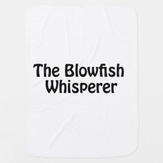 the blowfish whisperer swaddle blanket
