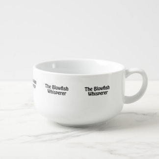 the blowfish whisperer soup bowl with handle