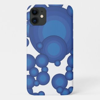 The Blue 70's year styling circle iPhone 11 Case