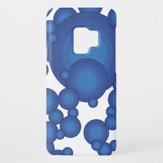 The Blue 70's year styling circle Case-Mate Samsung Galaxy S9 Case