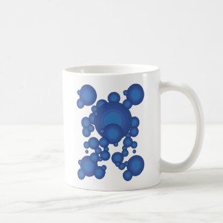 The Blue 70's year styling circle Coffee Mug