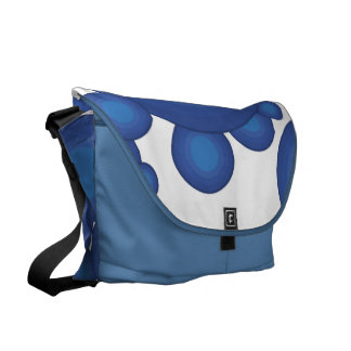 The Blue 70's year styling circle Courier Bag