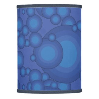 The Blue 70's year styling circle Lamp Shade