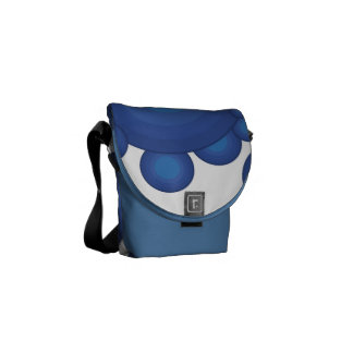 The Blue 70's year styling circle Messenger Bag