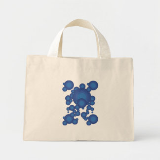 The Blue 70's year styling circle Mini Tote Bag