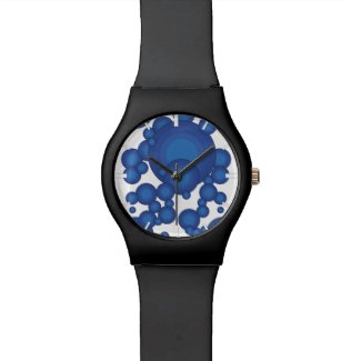 The Blue 70's year styling circle Watch