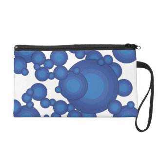 The Blue 70's year styling circle Wristlet Purse