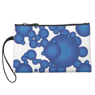 The Blue 70's year styling circle Wristlet Wallet