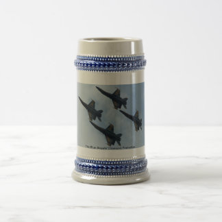 The Blue Angels' Diamond Formation. Beer Stein