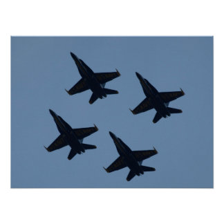 The Blue Angels' Diamond Formation. Poster