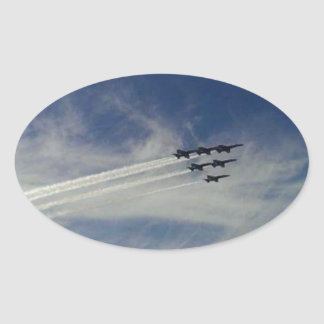 The Blue Angels Oval Sticker
