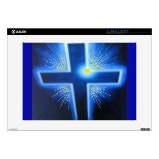 "The blue backlit Cross. Skin For 15"" Laptop"