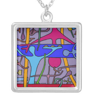 The Blue Banner Cafe Necklace